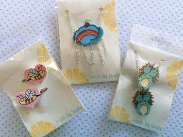 Teafly Necklaces and Hair Clips