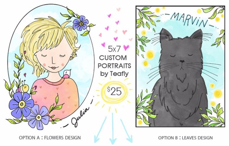 2019 Custom Portraits by Teafly